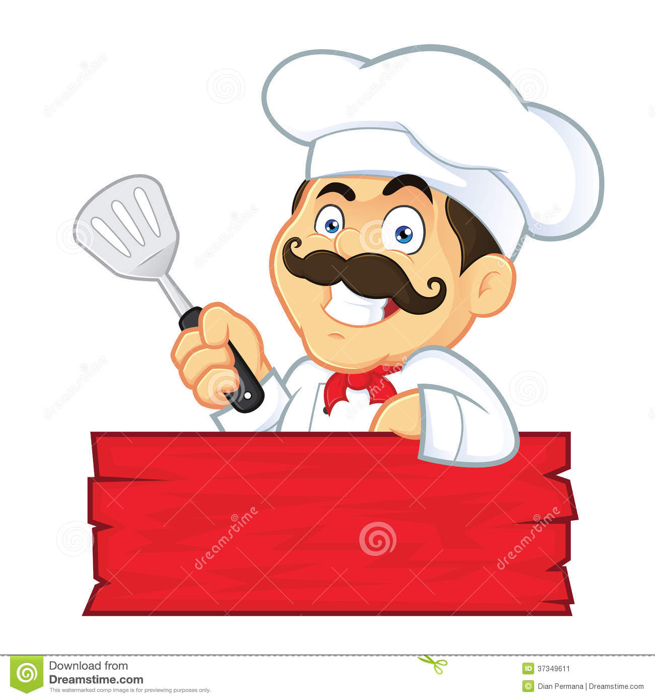 chef holding spatula stock vector illustration of graphic clip art chef cooking clip art chefs