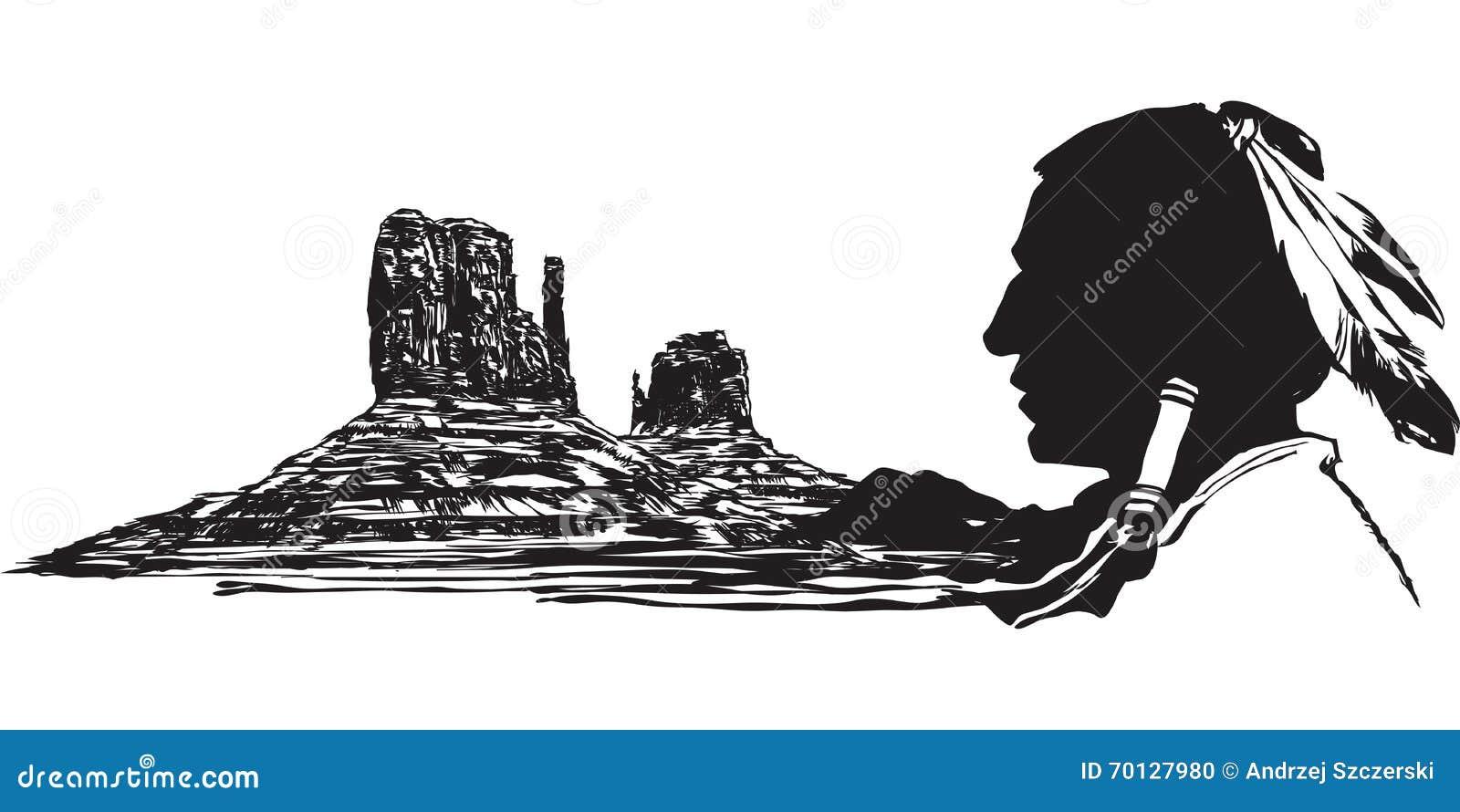 Chef Indien Indigène Illustration De Vecteur Illustration