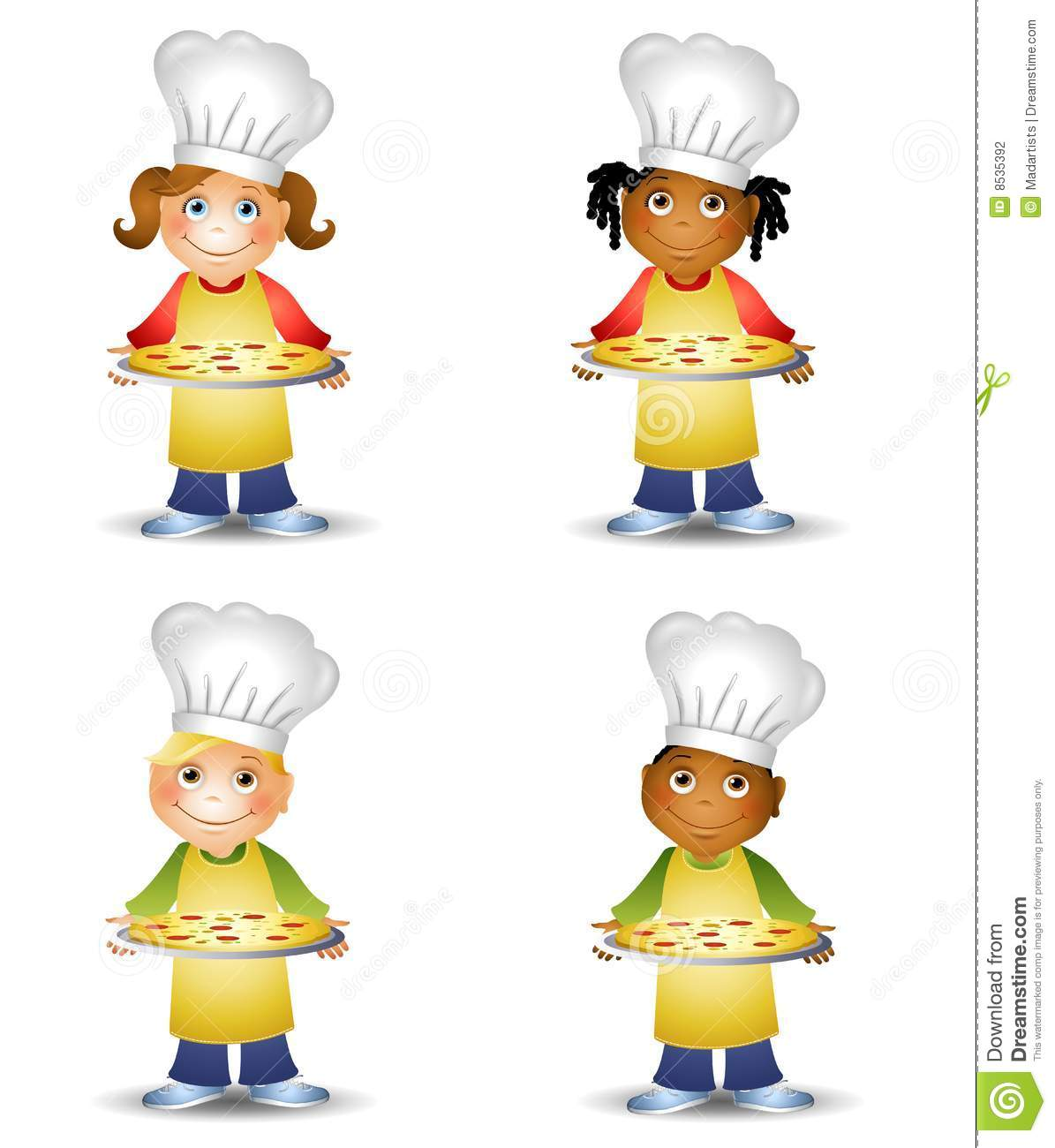 Chef Kids Holding Pizza Stock Photography Image 8535392
