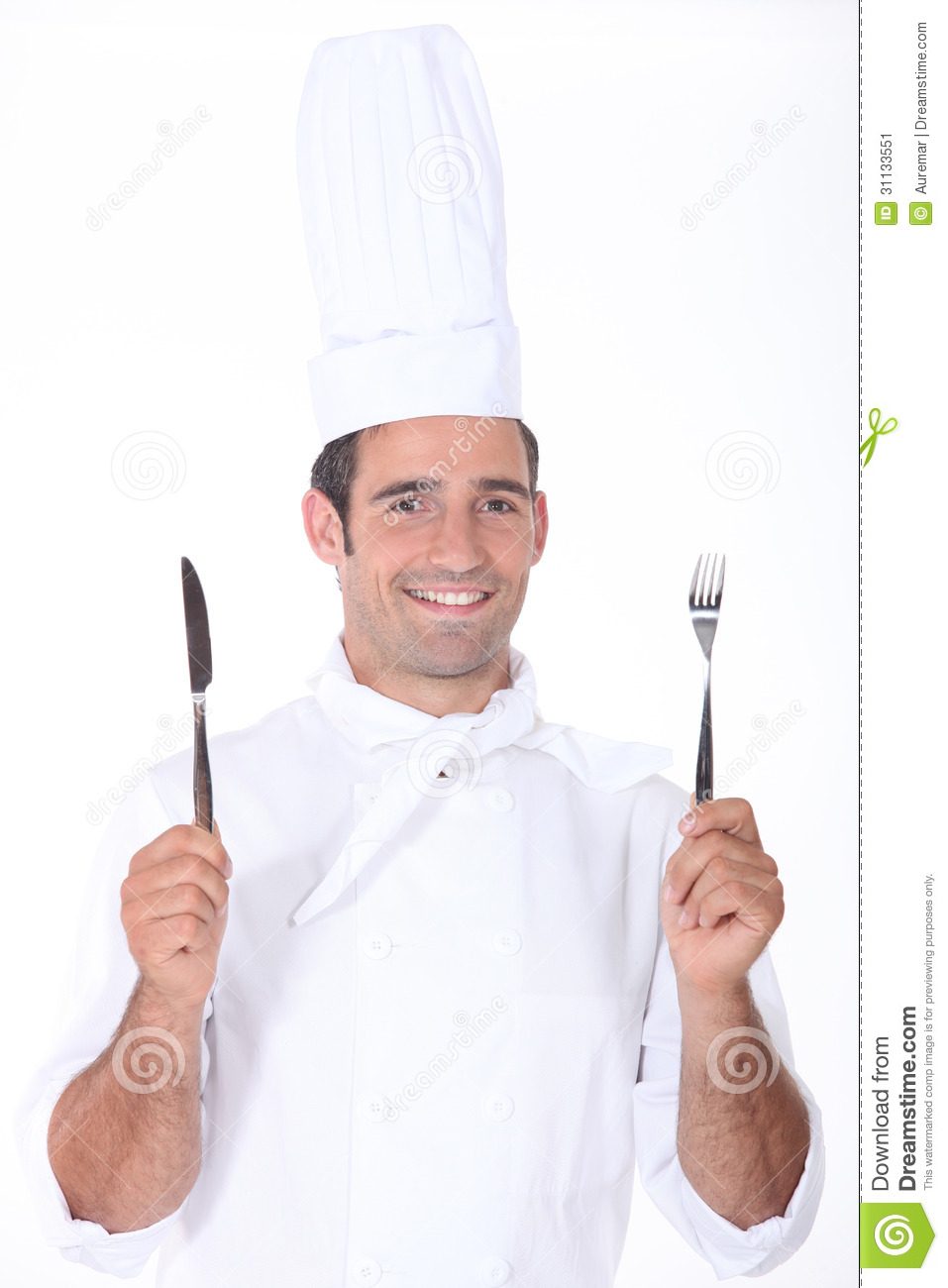 Chef A Knife And Fork Stock Image Image Of European