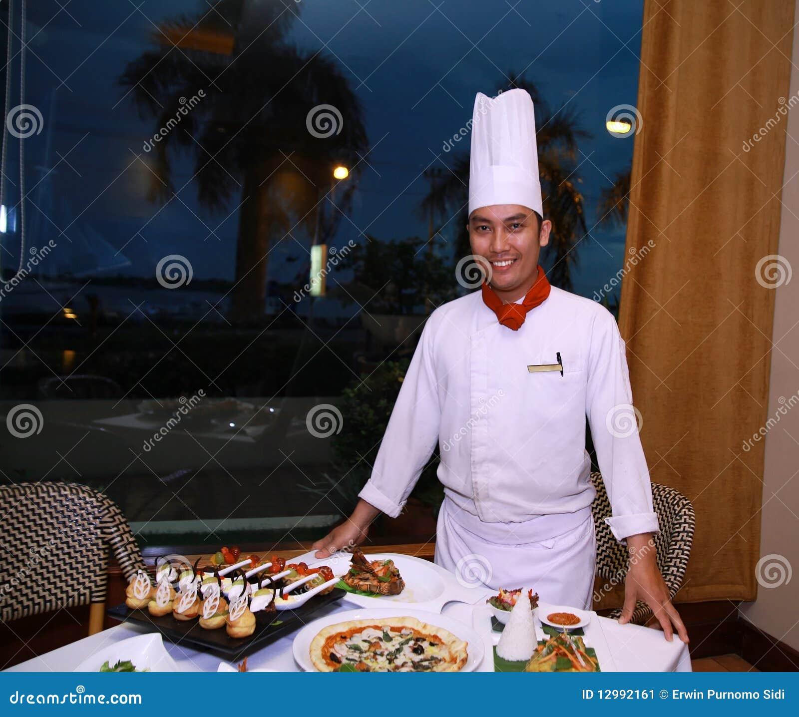 Chef-kok bij restaurant