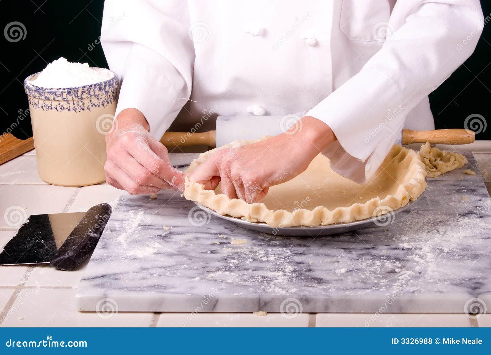 Chef-kok die ruche vormt