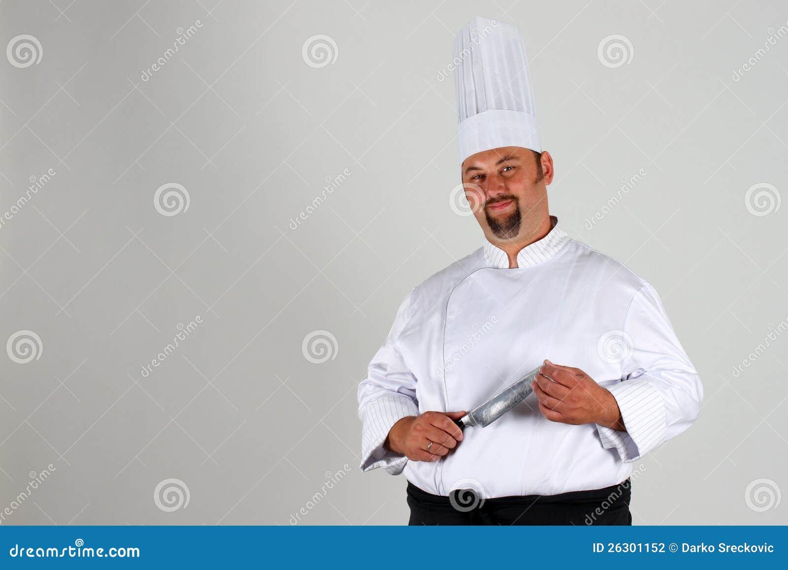 Chef-kok met mes