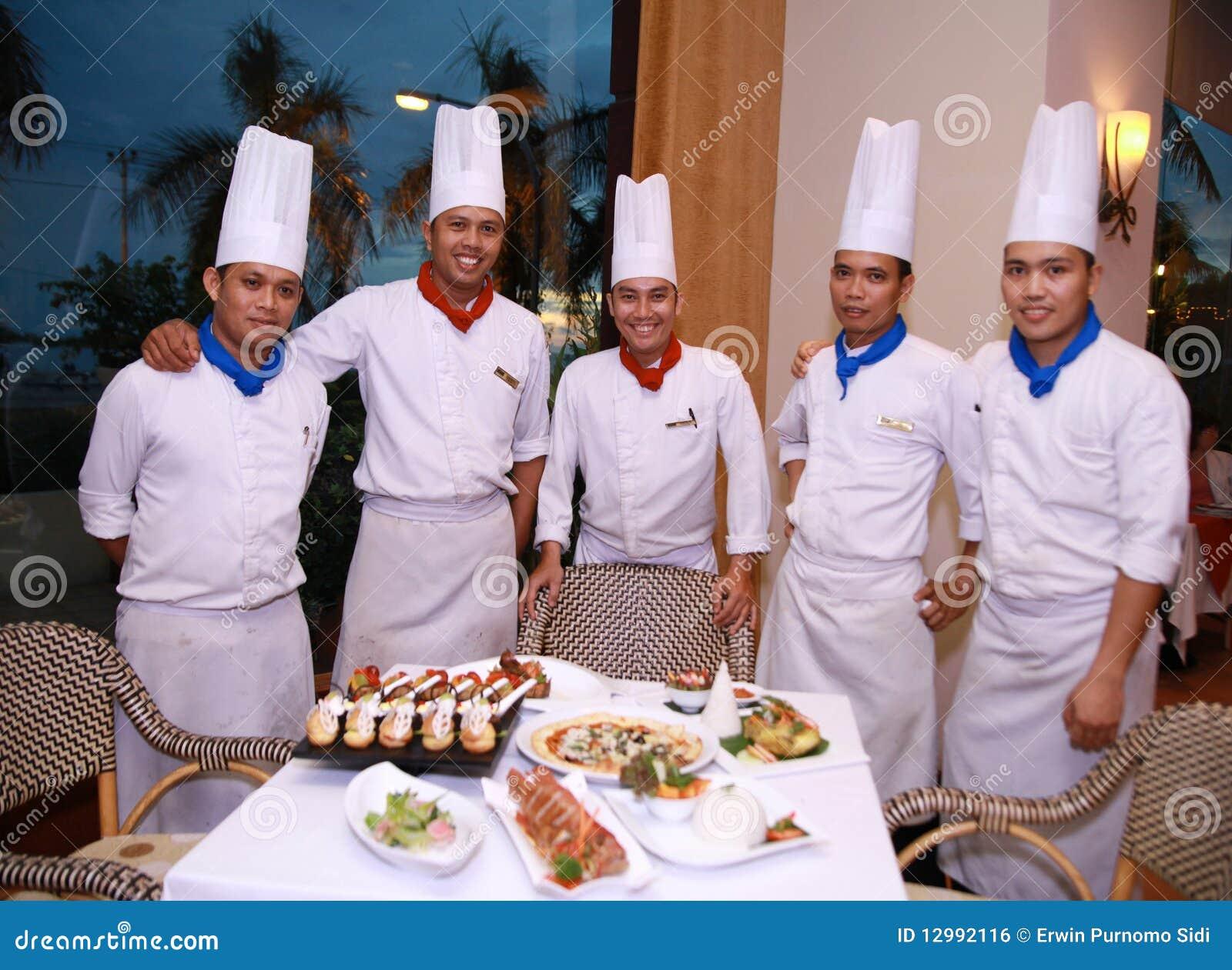 Chef-koks bij restaurant