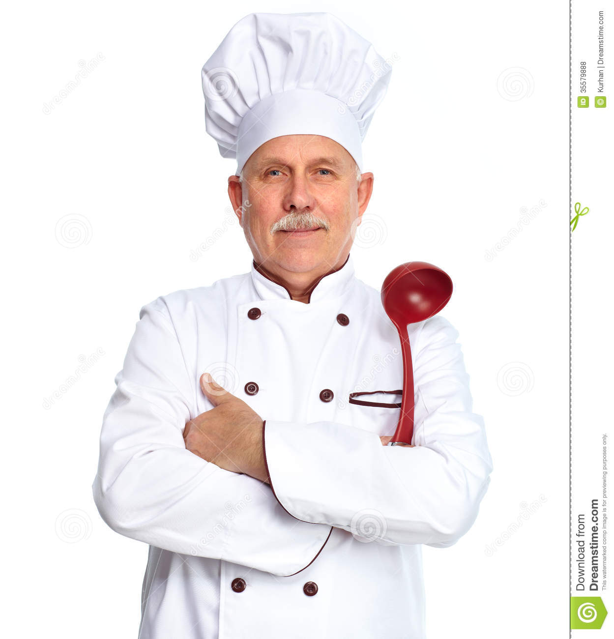 Http Www Dreamstime Com Royalty Free Stock Photos Chef Ladle Mature Professional Man Isolated Over White Background Image35579888