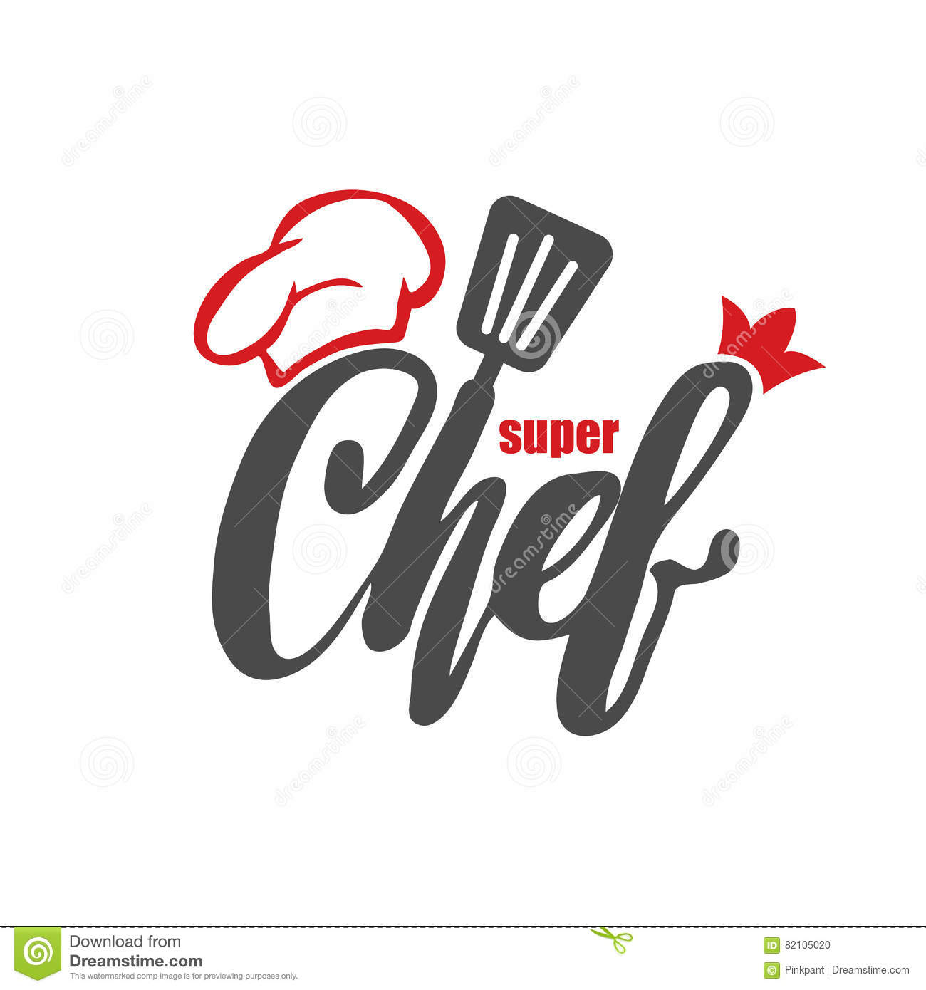 French Cuisine Chef Logo Vector Illustration