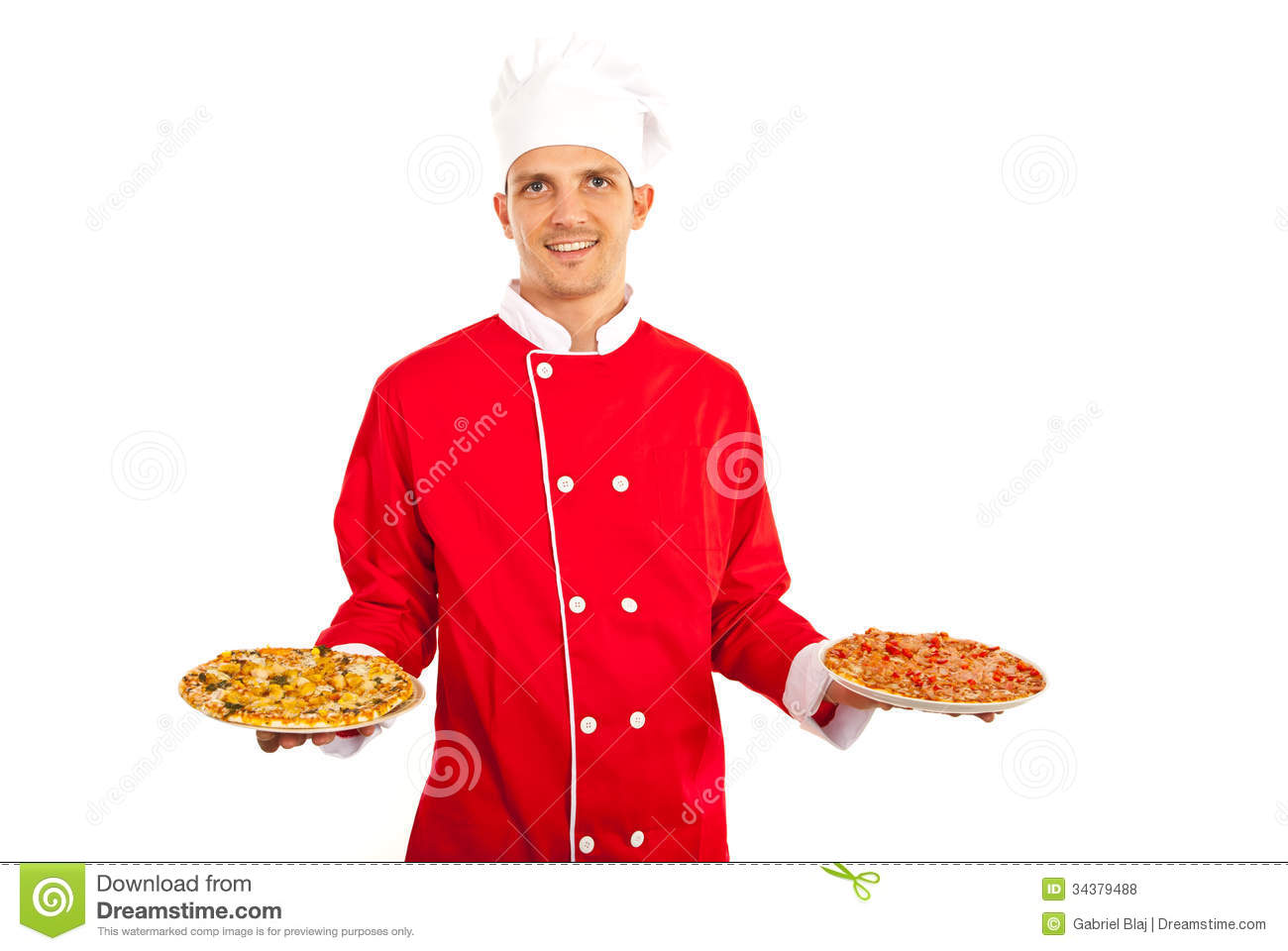 chef man holding pizza stock photo image of delicious. Black Bedroom Furniture Sets. Home Design Ideas