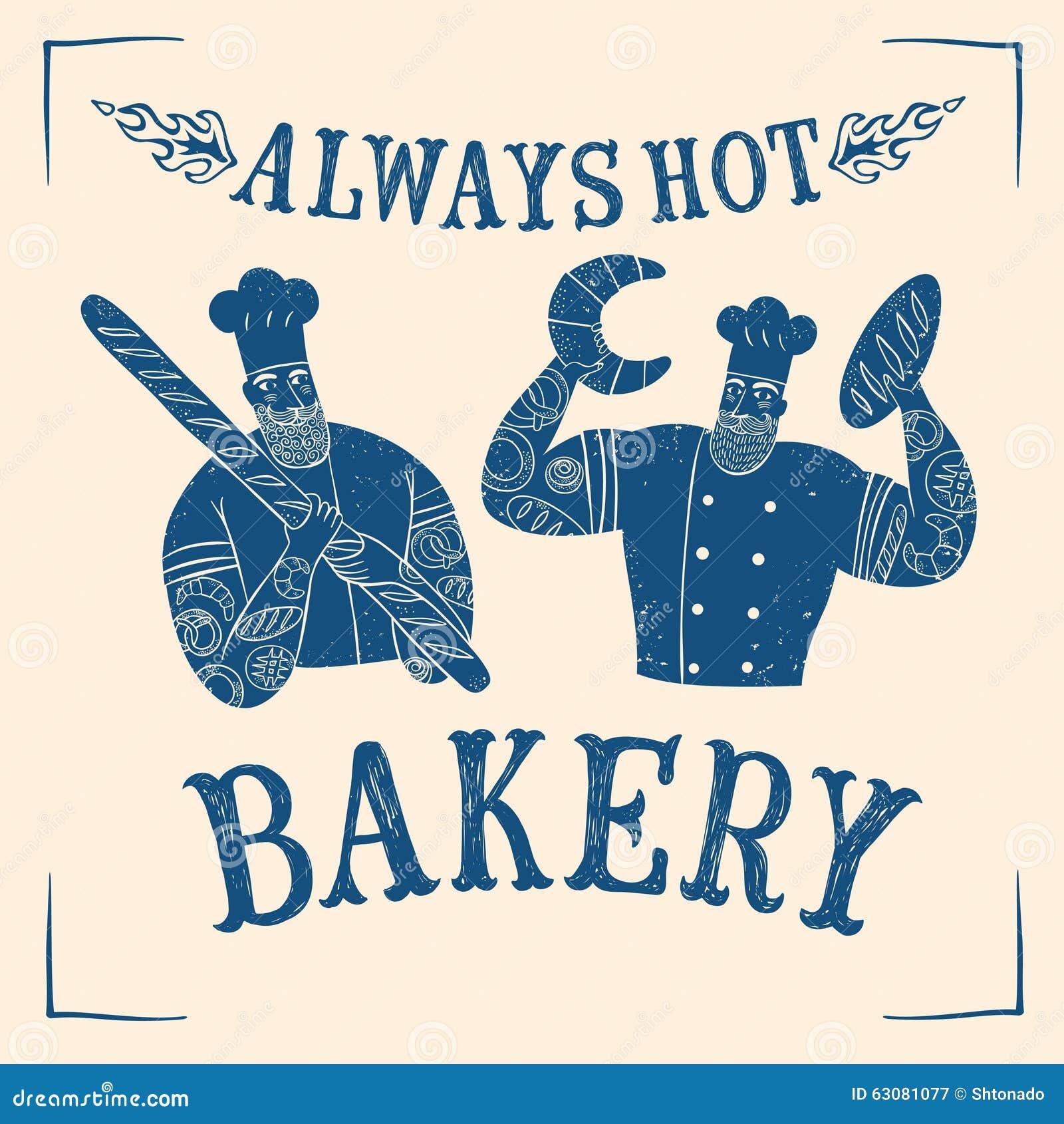 Download Chef Migty Tiré Par La Main Réglé Avec Le Logo Illustration Stock - Illustration du boulangerie, déjeuner: 63081077
