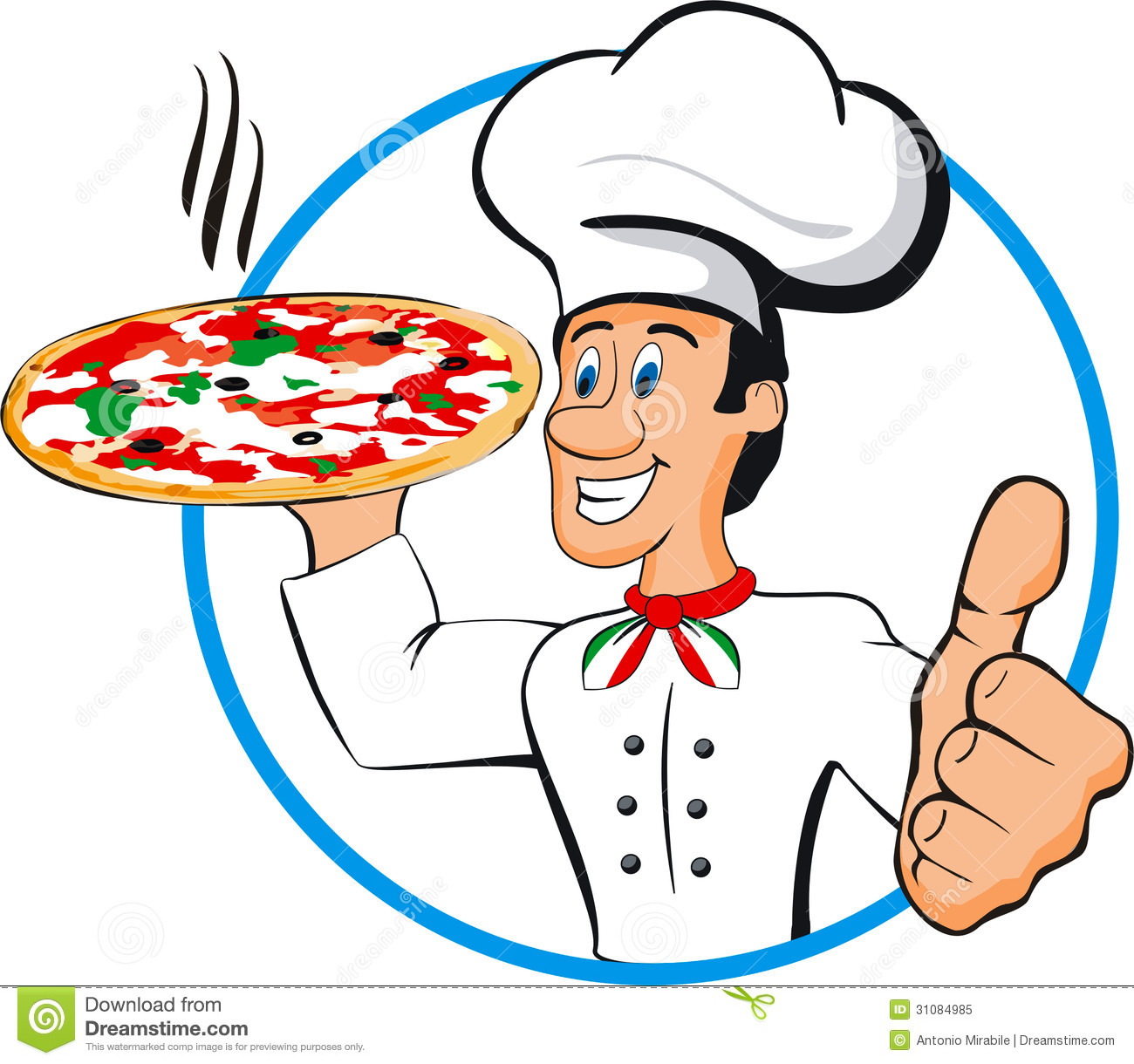Chef Pizza Royalty Free Stock Photo - Image: 31084985