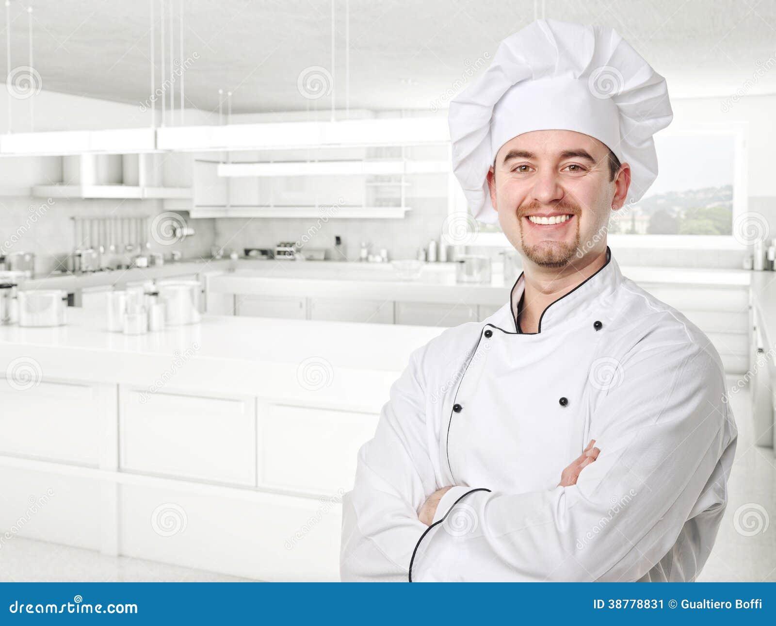 Chef portrait stock image. Image of confident, helper - 38778831