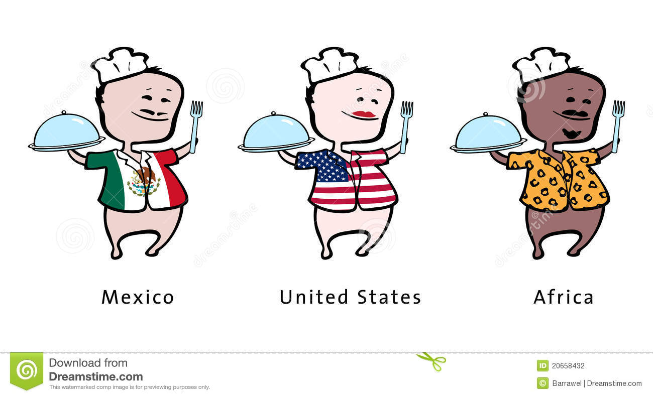 Mexican Chef Stock Illustrations Mexican Chef Stock - The chef in the us map