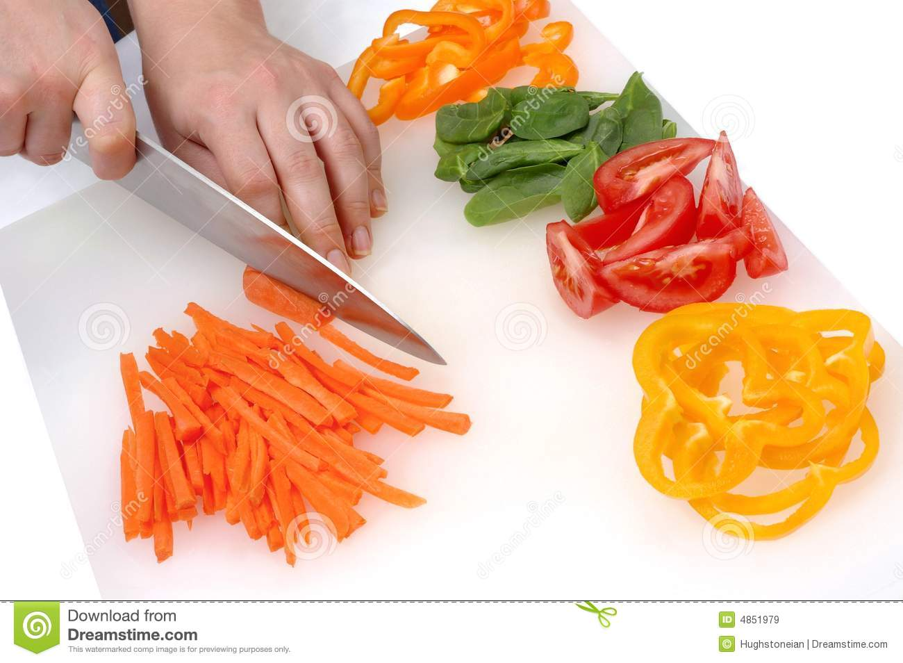 Chef's Hands Cutting Vegetables Royalty Free Stock Images ...