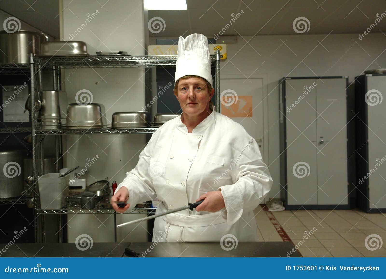 chef sharpening the knives stock image image 1753601. Black Bedroom Furniture Sets. Home Design Ideas