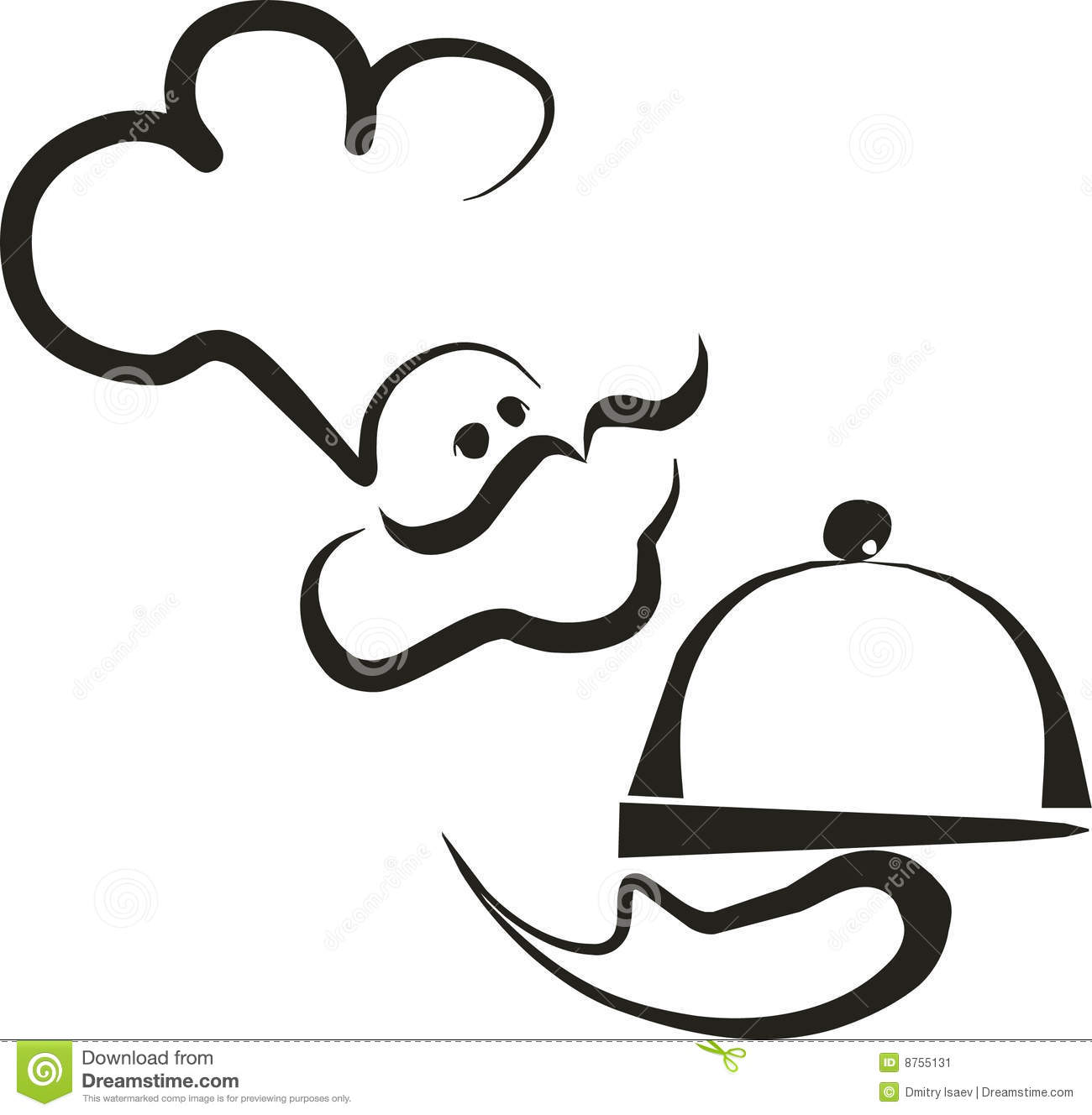 Chef silhouette 2 stock vector. Image of perfect, graphic ...