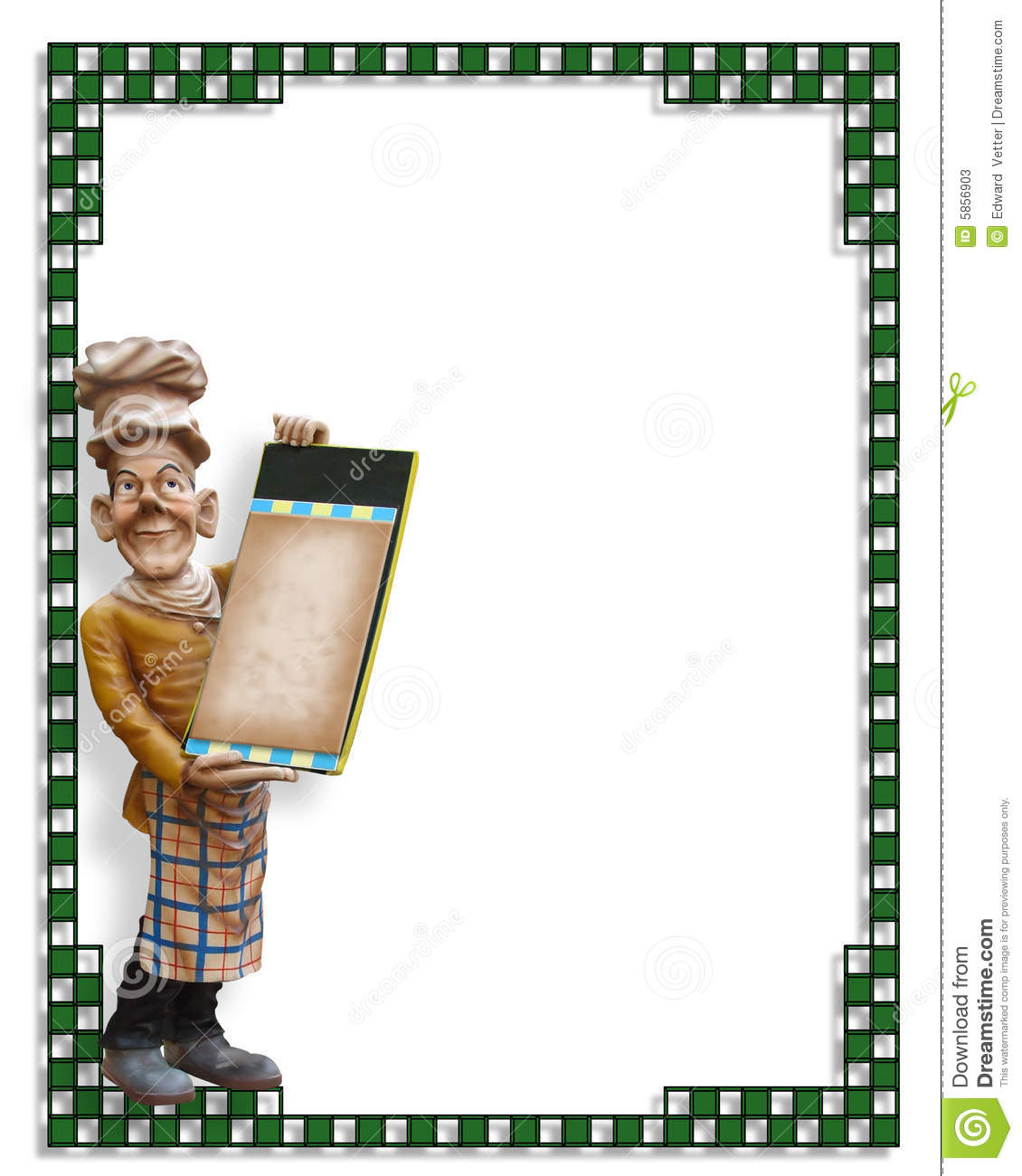Chef Statue With Blank Menu Stock Photos - Image: 5856903