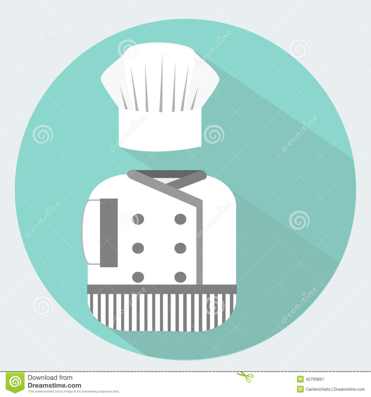 Download Chef Uniform Stock Vector Illustration Of Clothes Cook