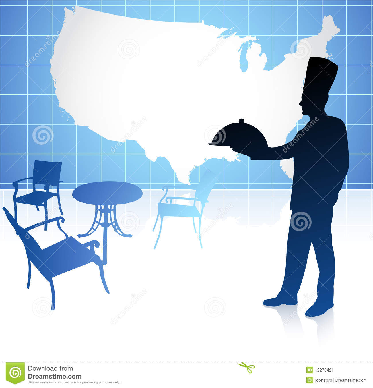 United States Map Made Of Words Stock Illustration Image - The chef in the us map