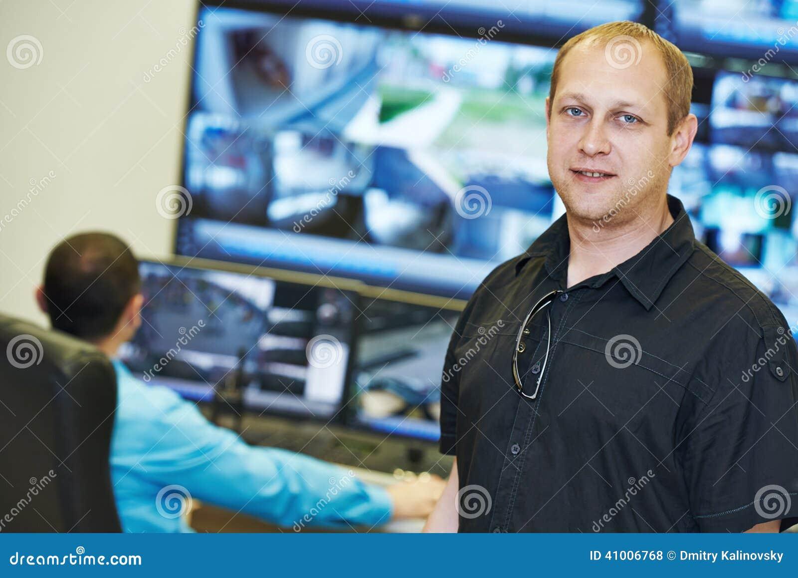 Chef visuel de surveillance de sécurité