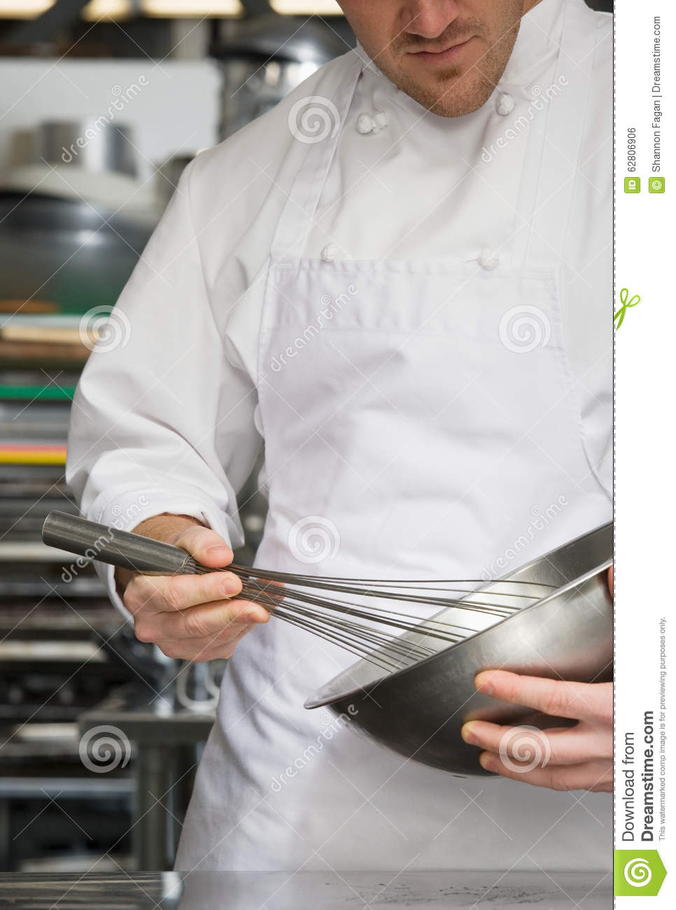Chef whisking