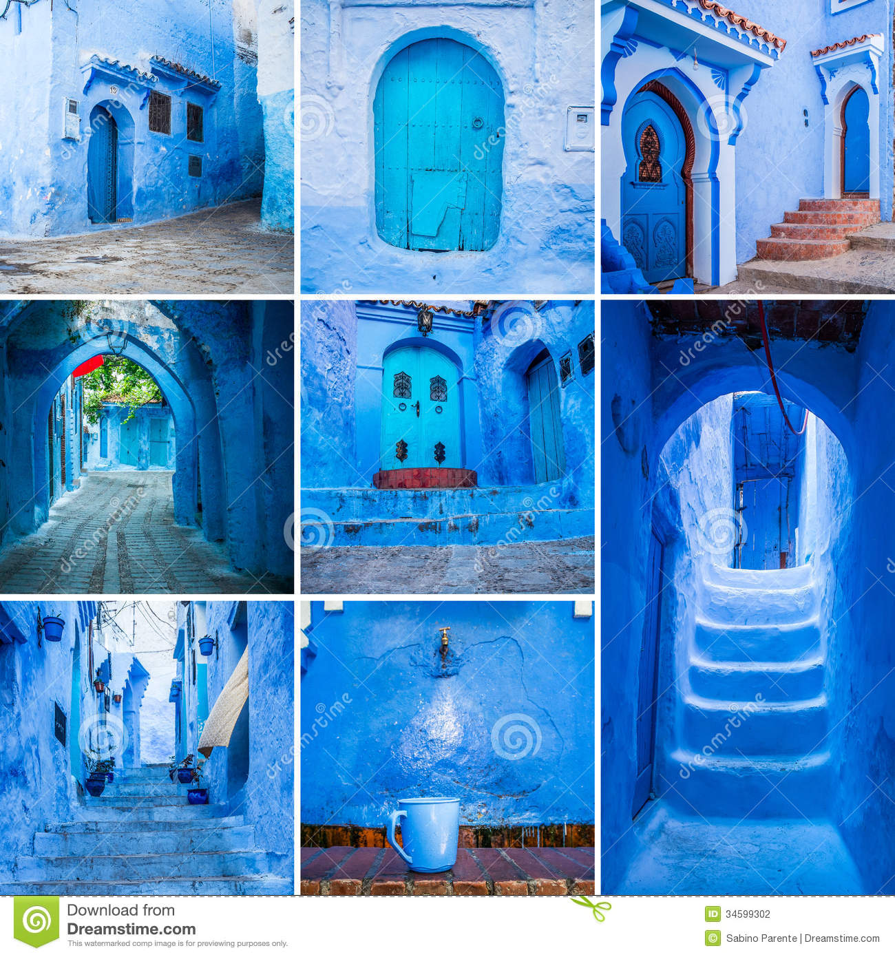 Chefchaouen Collage Stock Photography Image 34599302