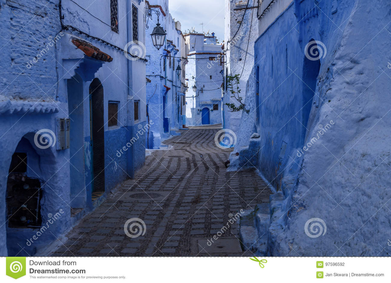 Chefchaouen den blåa staden i Marocko