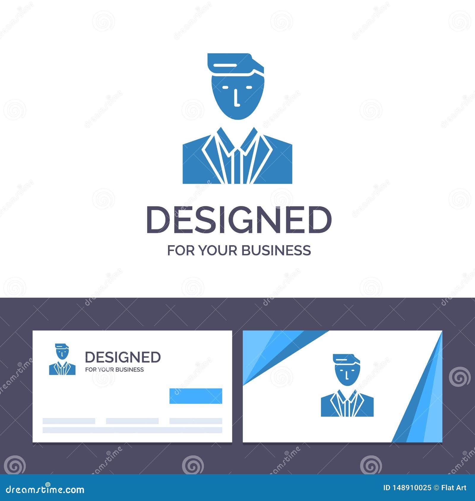 Chefe do molde criativo do cartão e do logotipo, CEO, cabeça, líder, Sr. Vetora Illustration