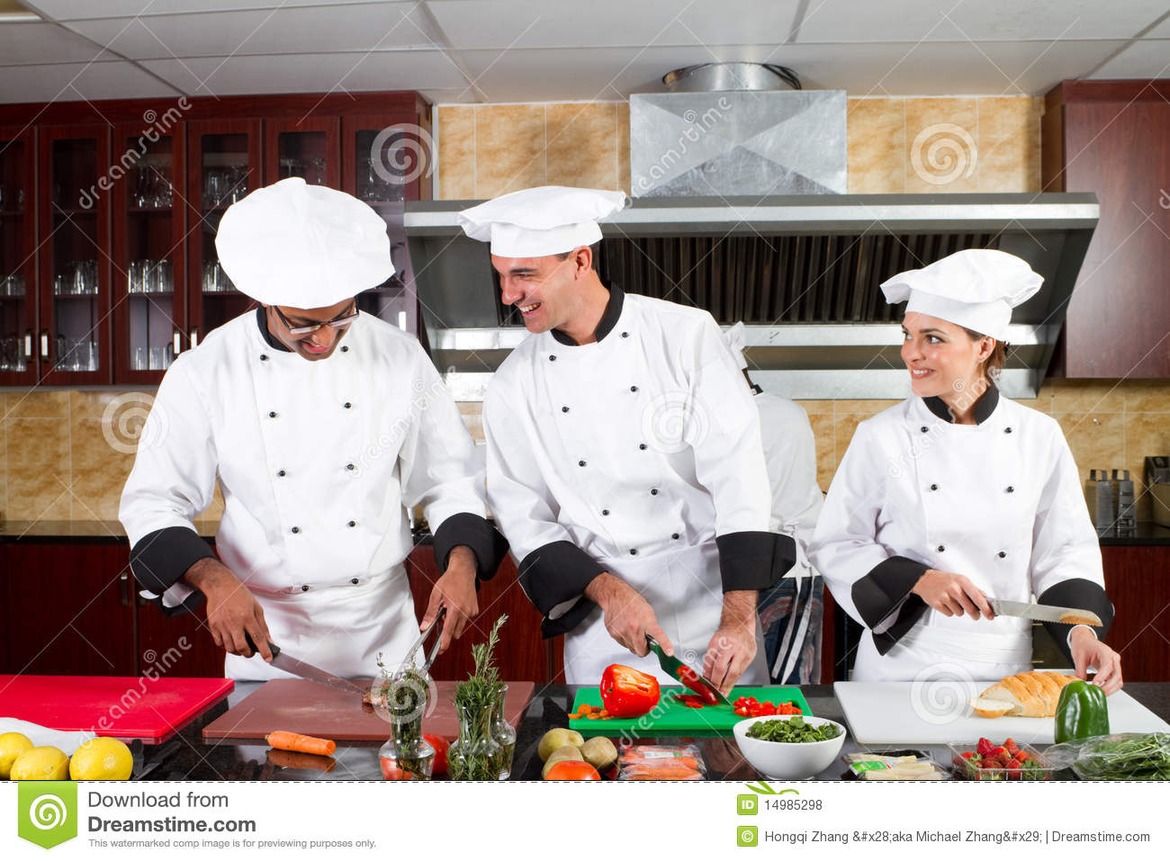 Chefs cooking stock photo. Image of clothing, chop, cook - 14985298