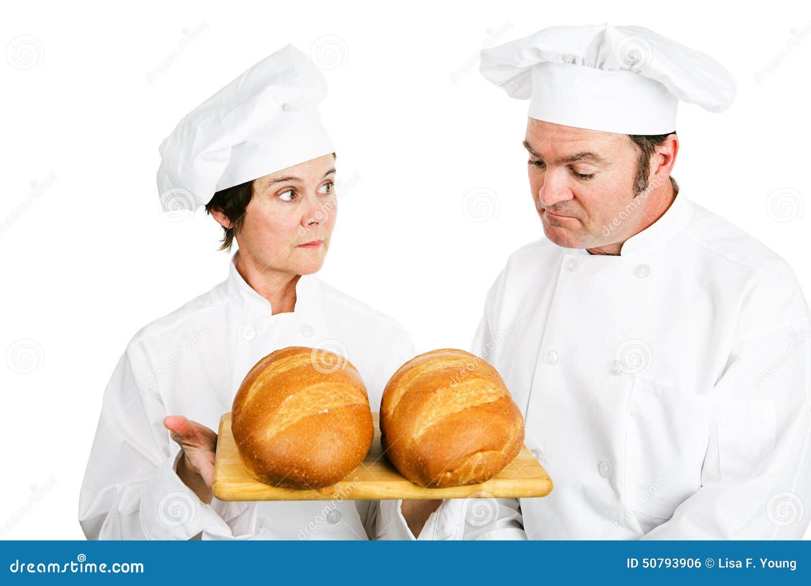 Chefs mit italienischem Brot