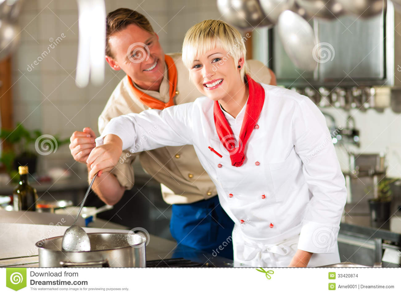 Teamwork In A Commercial Kitchen