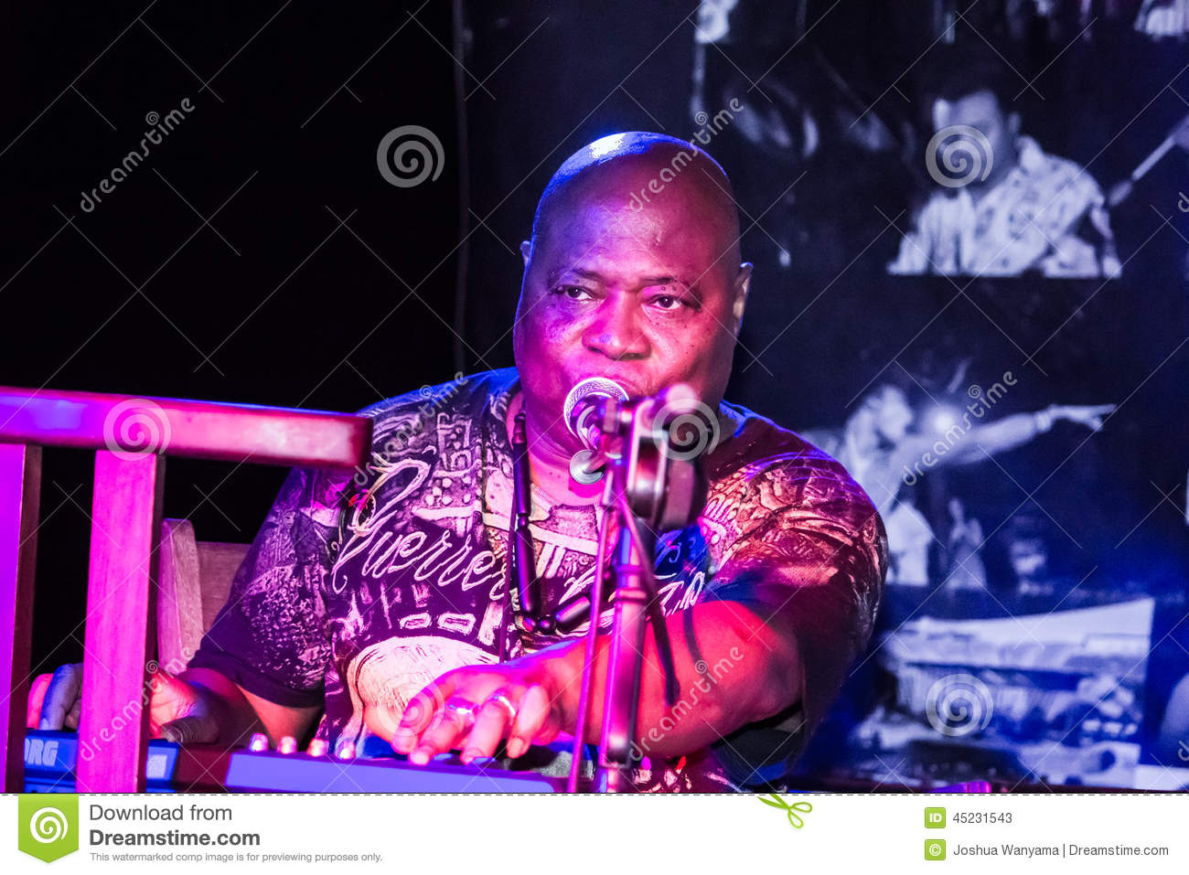 Cheick Tidiane Seck Performs Editorial Stock Photo - Image of rock