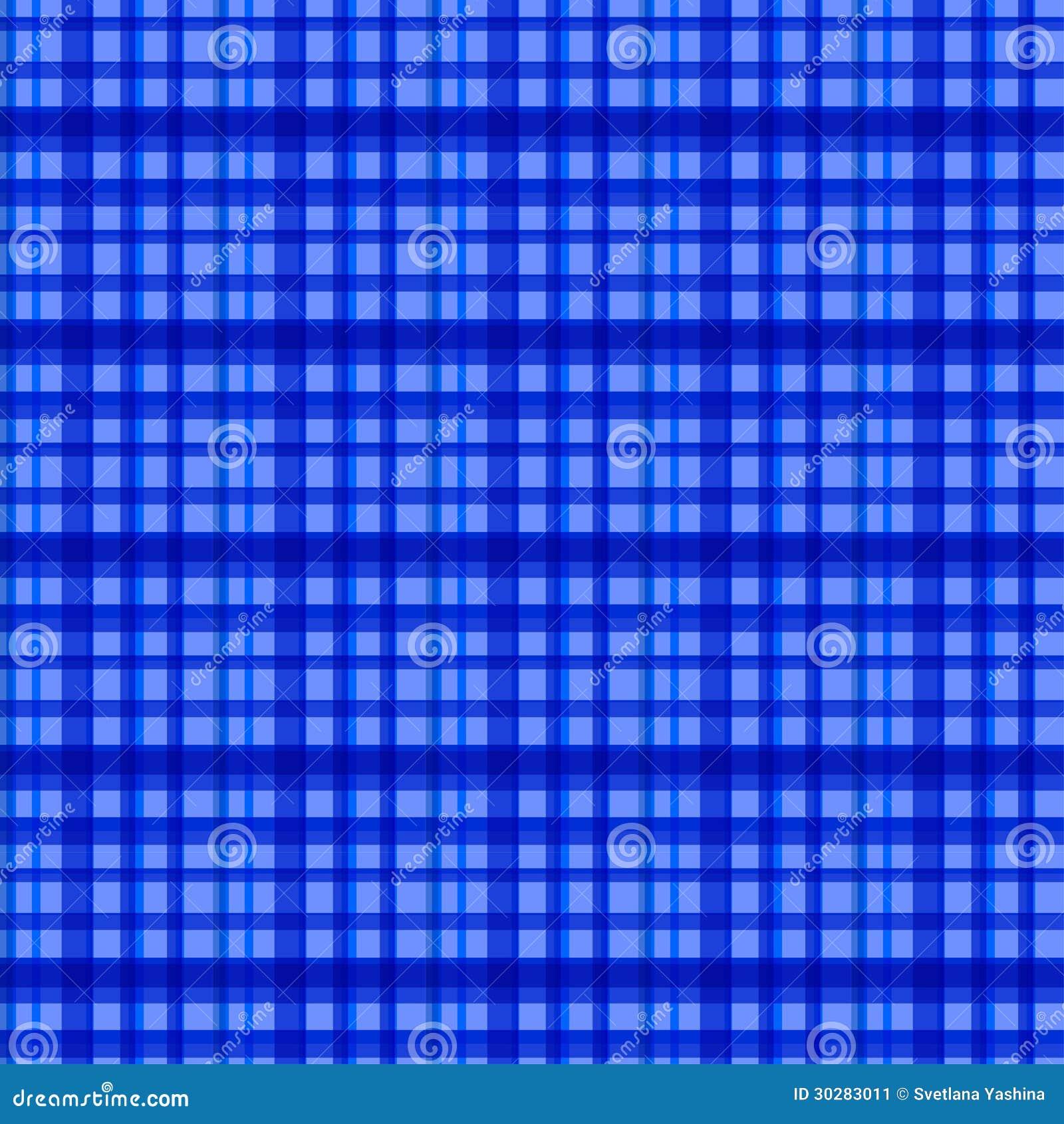 无缝的蓝色被检查的样式