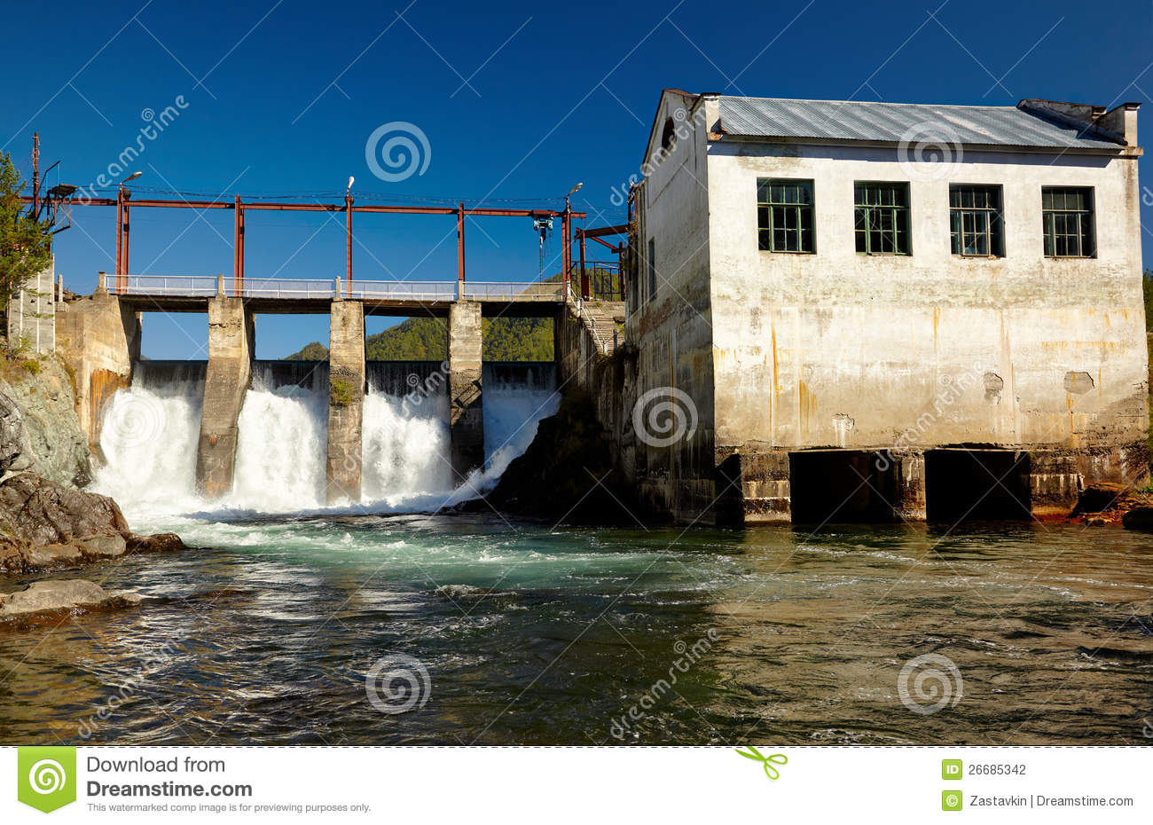 Chemal Hydroelectric Power Plant Stock Graphy Image