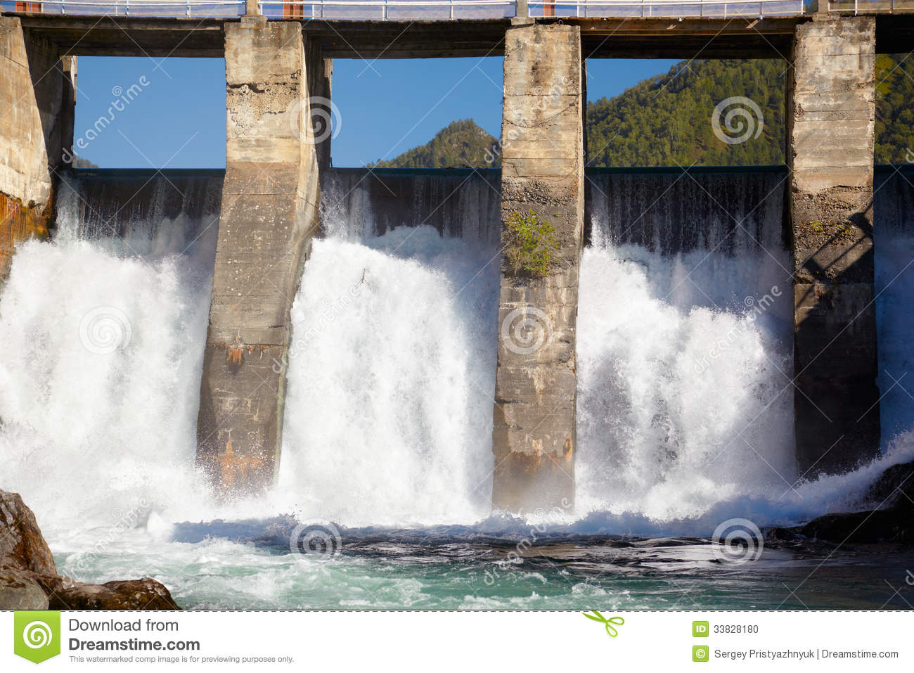 Chemal Hydroelectric Power Plant Stock Image