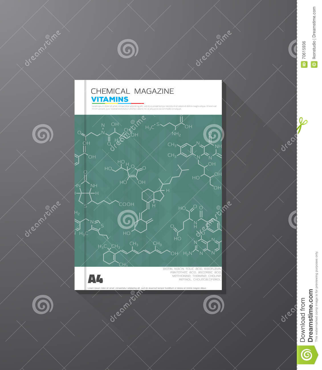 Chemical book cover stock vector. Illustration of acid 70615936.