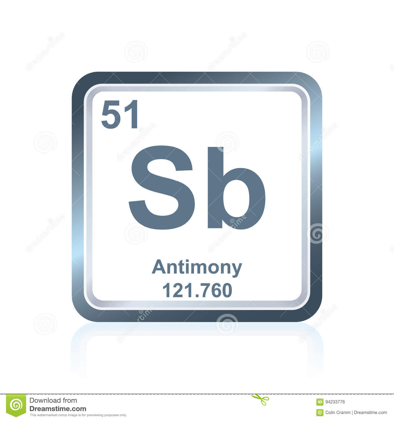Chemical element antimony from the periodic table stock chemical element antimony from the periodic table gamestrikefo Choice Image