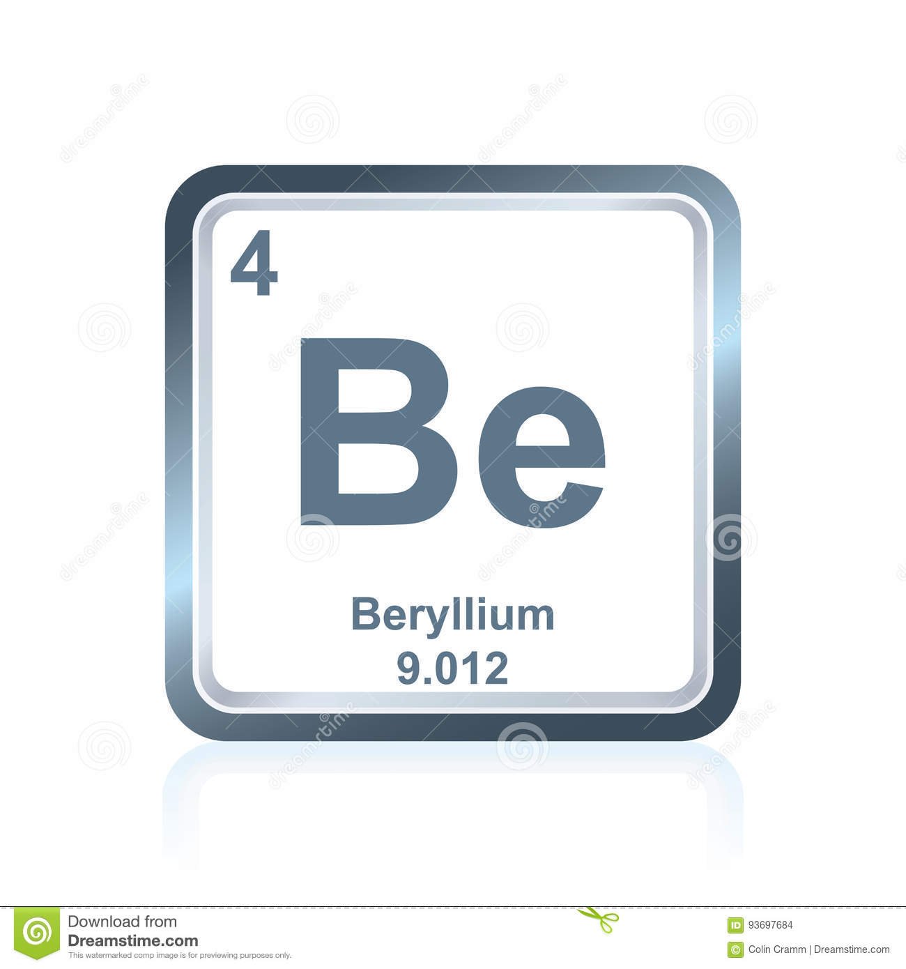 Chemical element beryllium from the periodic table stock vector chemical element beryllium from the periodic table urtaz Image collections