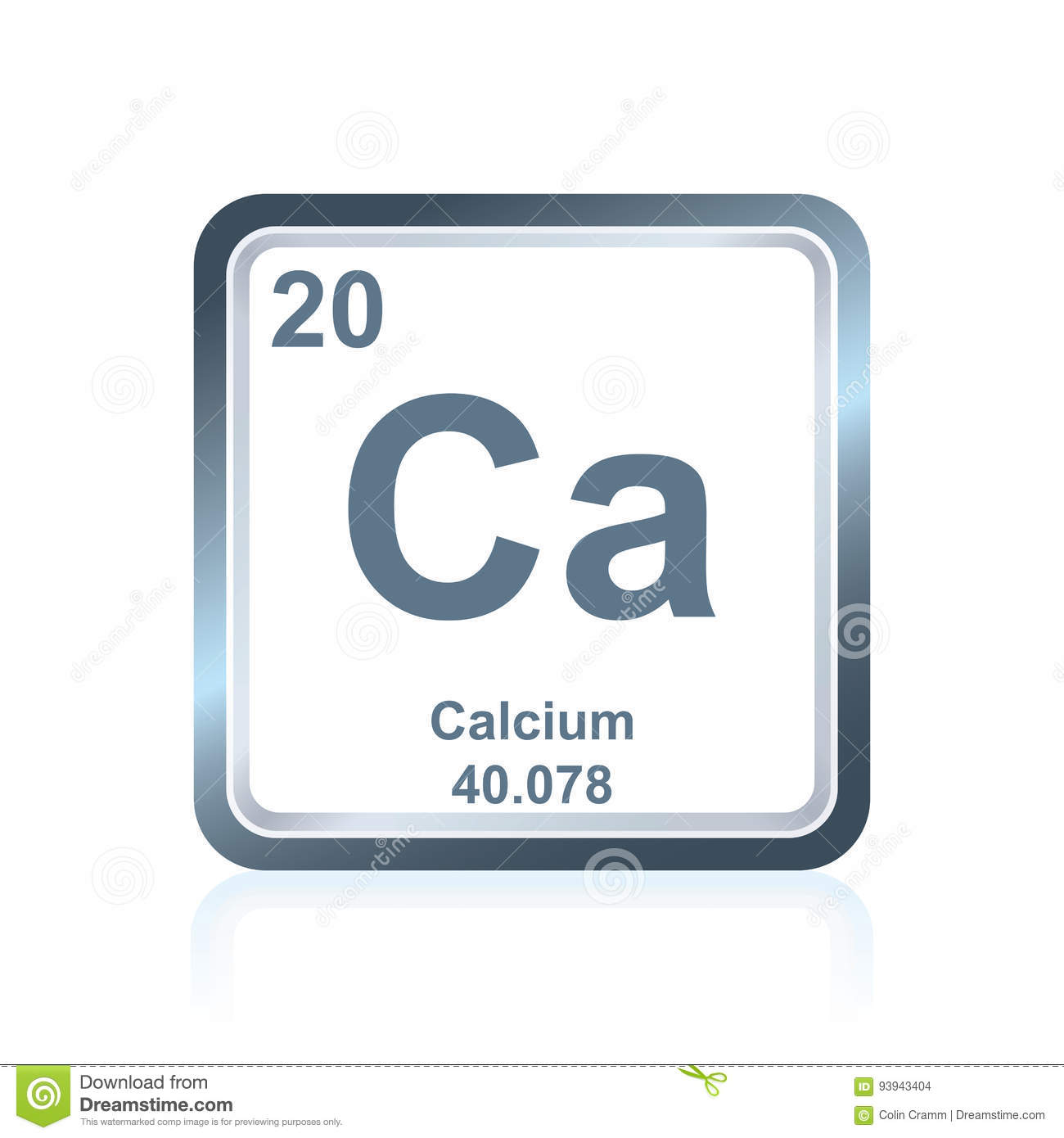 Chemical element calcium from the periodic table stock vector download chemical element calcium from the periodic table stock vector illustration of science research urtaz Choice Image