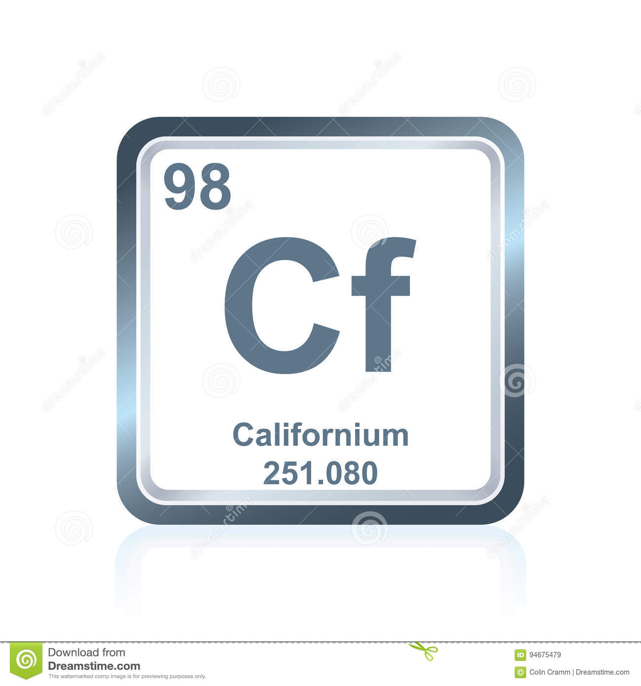 Chemical element californium from the periodic table stock vector chemical element californium from the periodic table gamestrikefo Images
