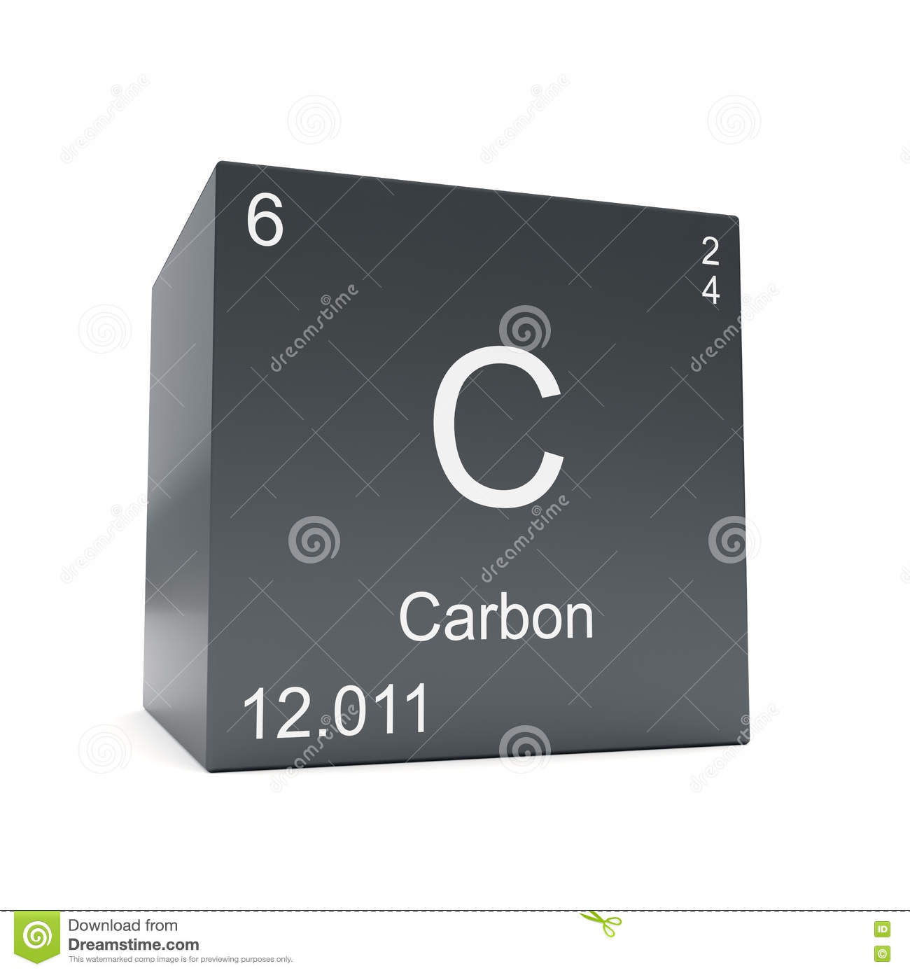 Chemical element on carbon black cube stock illustration chemical element on carbon black cube buycottarizona