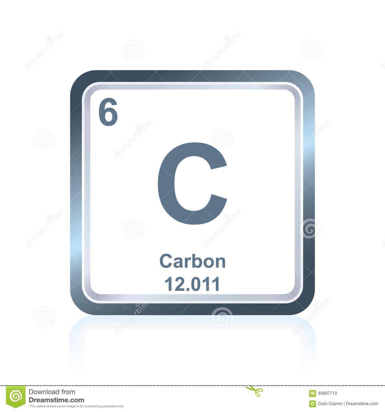 Chemical element carbon from the periodic table stock vector chemical element carbon from the periodic table buycottarizona