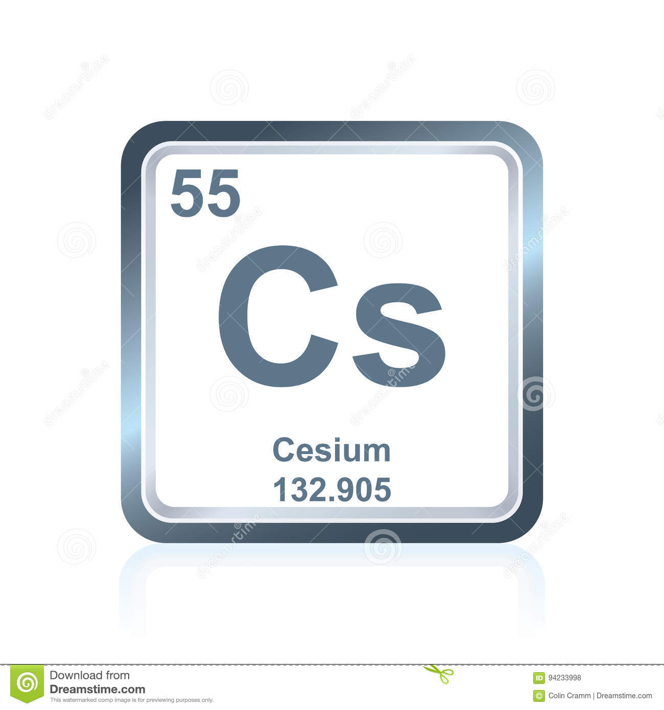 Chemical element cesium from the periodic table stock illustration royalty free illustration download chemical element cesium from the periodic table gamestrikefo Image collections