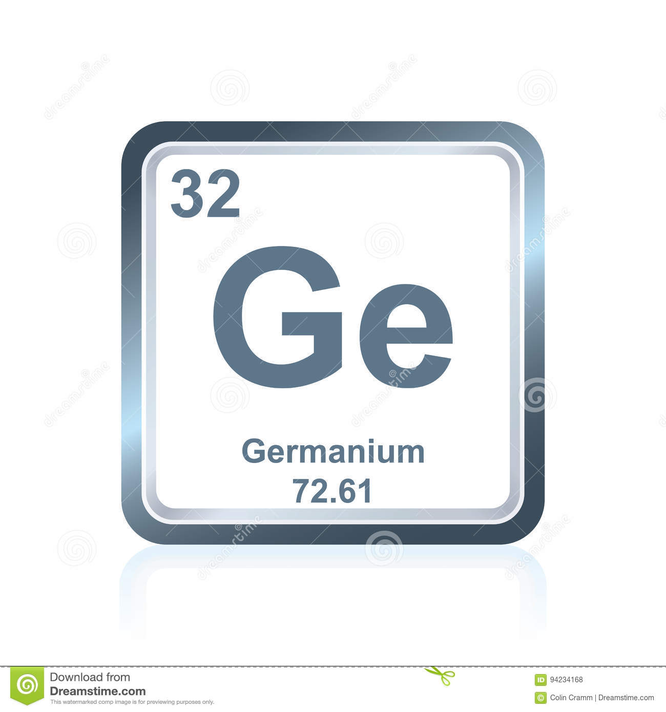 Chemical Element Germanium From The Periodic Table Stock