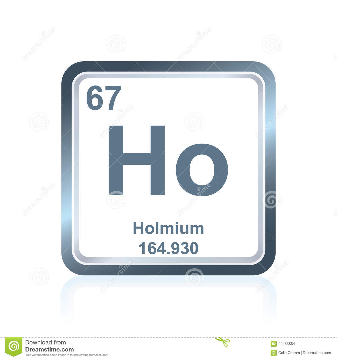 Chemical Element Holmium From The Periodic Table Stock Illustration