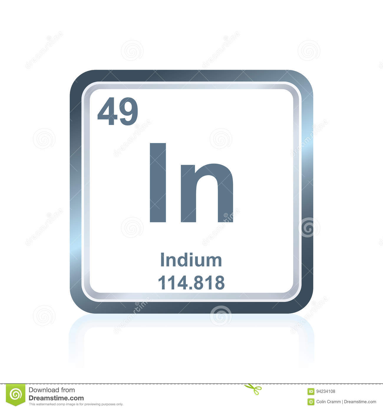 Chemical element indium from the periodic table stock illustration chemical element indium from the periodic table biocorpaavc Images