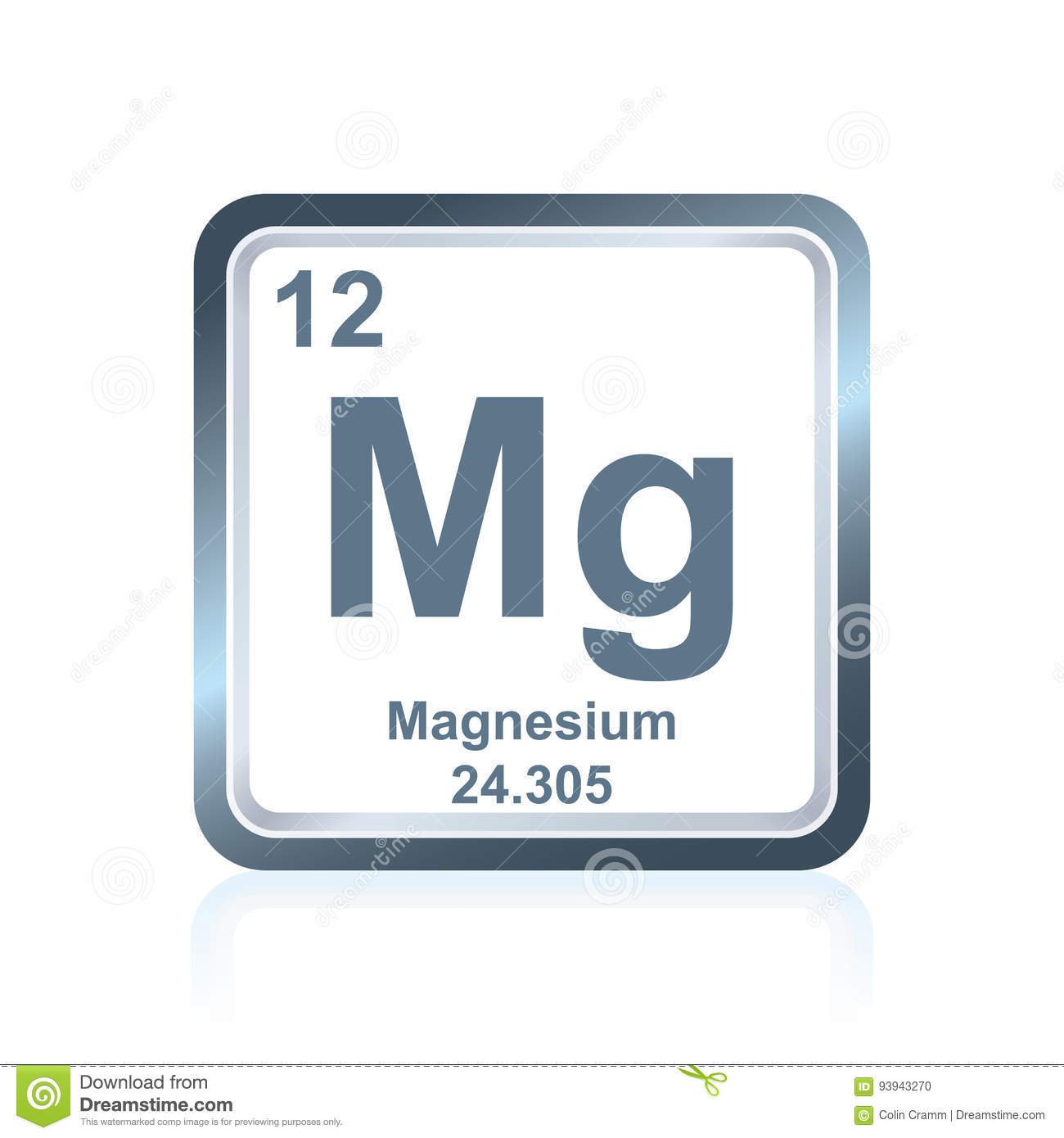 Chemical element magnesium from the periodic table stock vector chemical element magnesium from the periodic table gamestrikefo Gallery