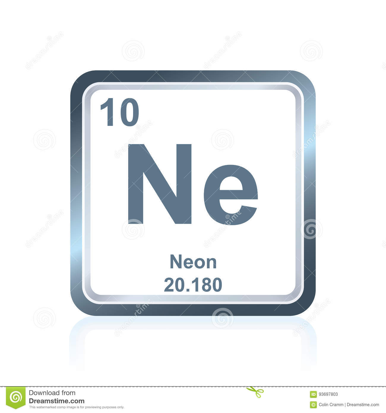 Chemical element neon from the periodic table stock vector download chemical element neon from the periodic table stock vector illustration of element numbering urtaz