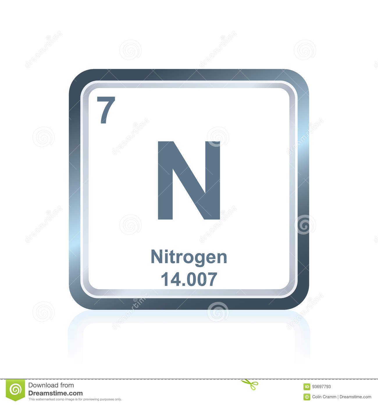 Chemical element nitrogen from the periodic table stock vector chemical element nitrogen from the periodic table gamestrikefo Gallery