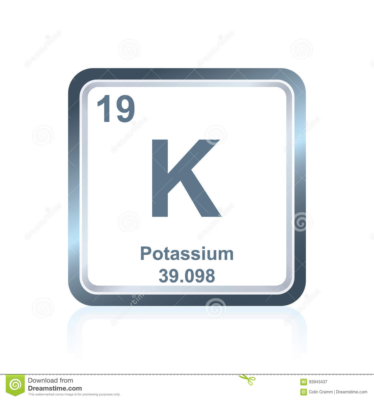 Chemical element potassium from the periodic table stock vector chemical element potassium from the periodic table biocorpaavc