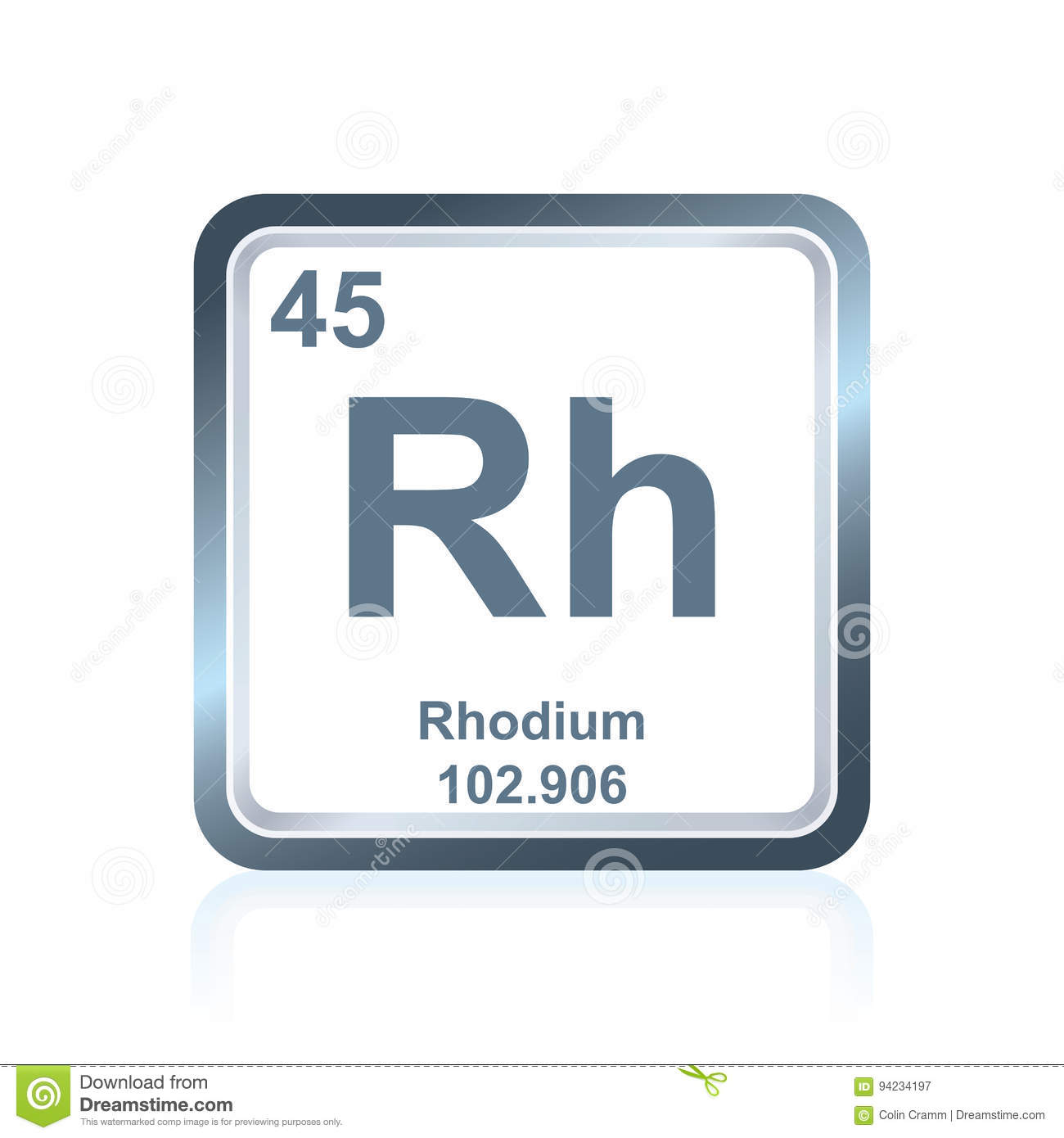 Chemical element rhodium from the periodic table stock illustration chemical element rhodium from the periodic table urtaz Image collections