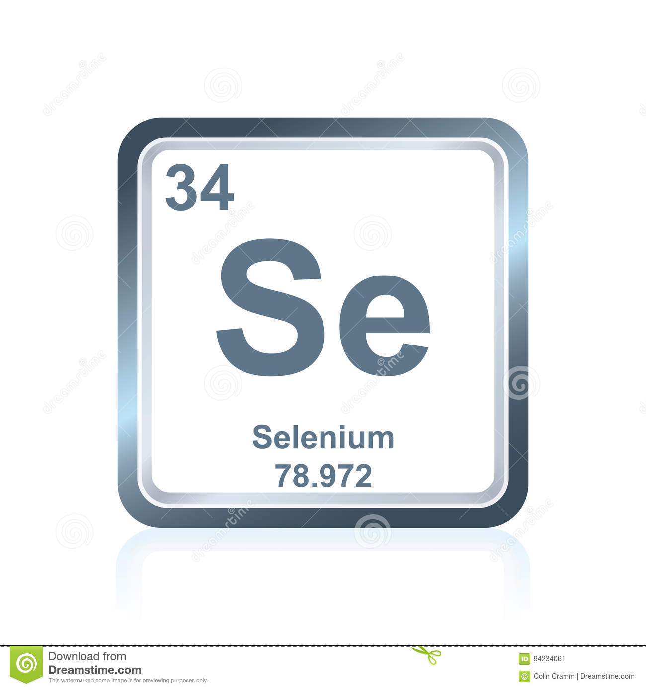 Chemical element selenium from the periodic table stock chemical element selenium from the periodic table gamestrikefo Images